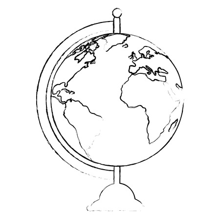 world planet earth ecology icon vector illustration design