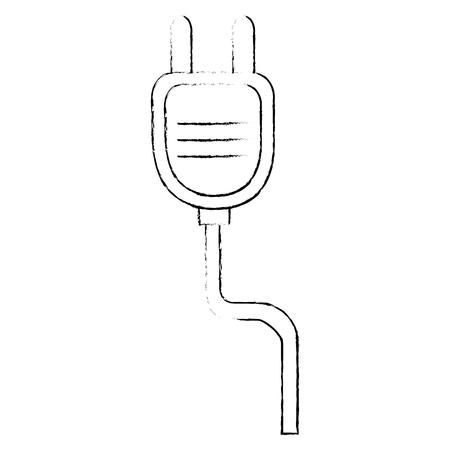 Enchufe de energía aislado icono diseño ilustración vectorial