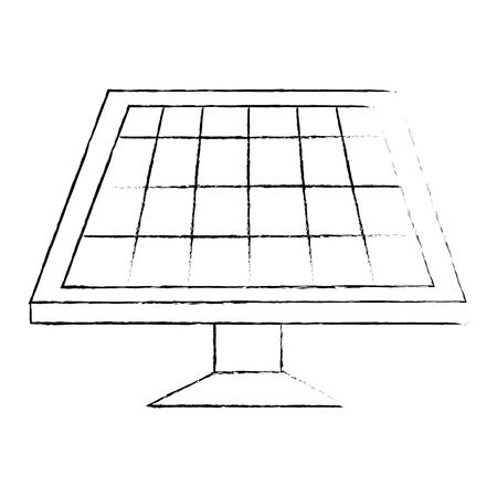 panel słoneczny izolowany ikona wektor ilustracja projekt