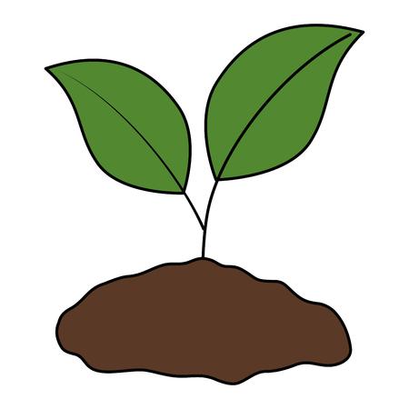 conception d'illustration vectorielle de l'écologie des plantes et du sol Vecteurs