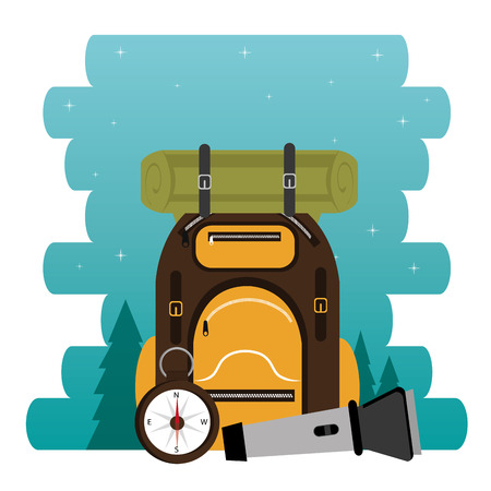 camping zone with equipment vector illustration design Stockfoto - 115013580