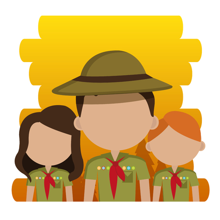 group of scouts characters vector illustration design Illustration