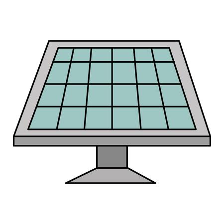 panel słoneczny ikona na białym tle wektor ilustracja projekt