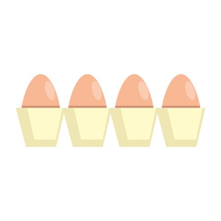 carton eggs container icon vector illustration design Standard-Bild - 104480729