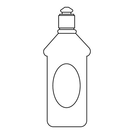 bouteille, maison, produit, icône, vecteur, illustration, conception Vecteurs