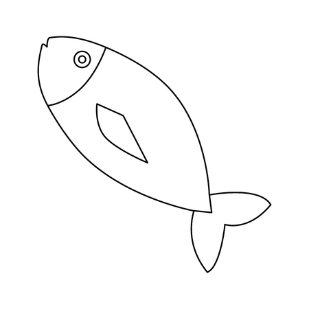 fresh fish meat icon vector illustration design Vetores