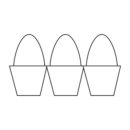 carton eggs container icon vector illustration design