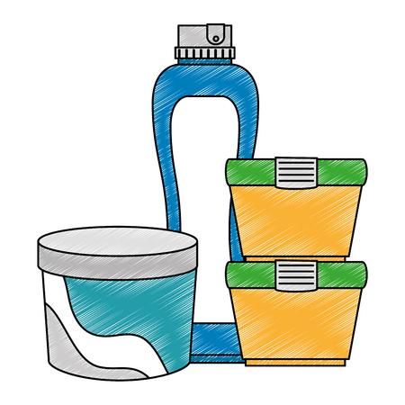set bottles products icon vector illustration design Illustration