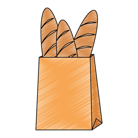 shopping bag with delicious breads vector illustration design Zdjęcie Seryjne - 115013819