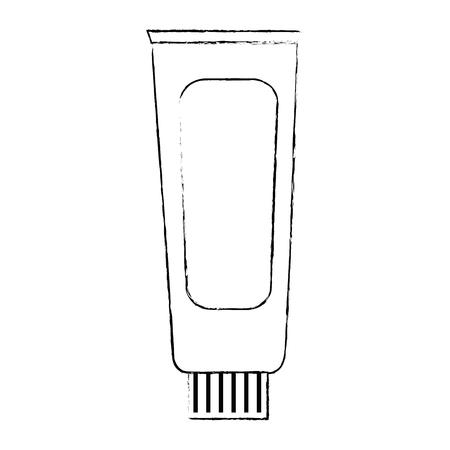 cream tube product icon vector illustration design  イラスト・ベクター素材