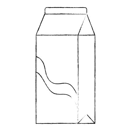 milk box carton packing vector illustration design Çizim