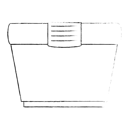 cream product in pot vector illustration design
