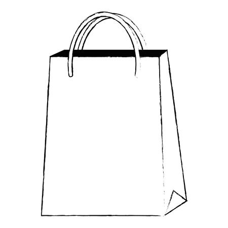 market paper bag icon vector illustration design