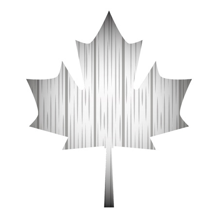 grunge style wooden gray maple leaf vector illustration
