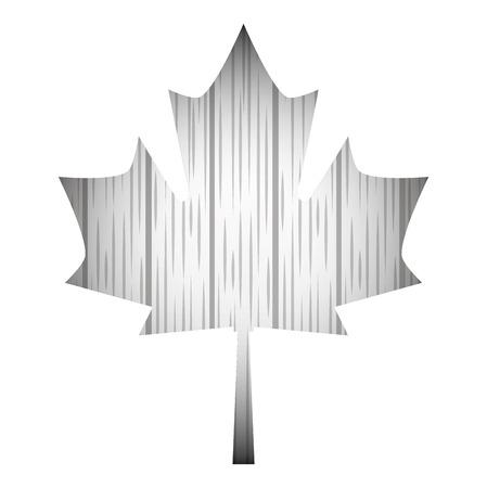 grunge style wooden gray maple leaf vector illustration