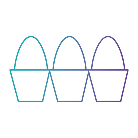 carton eggs container icon vector illustration design Standard-Bild - 104523694