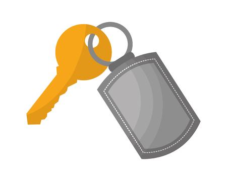trousseau et clé de sécurité accessibilité vector illustration