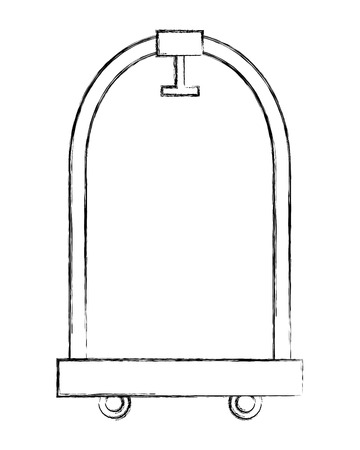 hotel luggage trolley equipment design vector illustration 일러스트