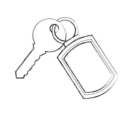 trousseau et clé de sécurité accessibilité vector illustration Vecteurs