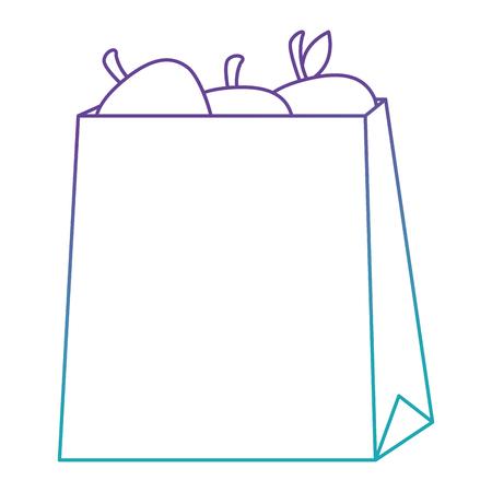 fresh tomatoes in shopping bag vector illustration design Ilustração