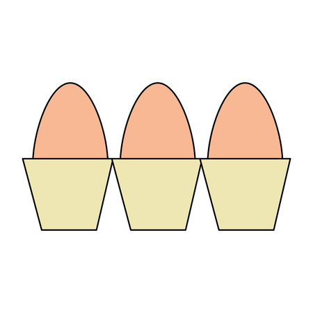 carton eggs container icon vector illustration design