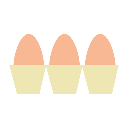 carton eggs container icon vector illustration design Banque d'images - 104522948