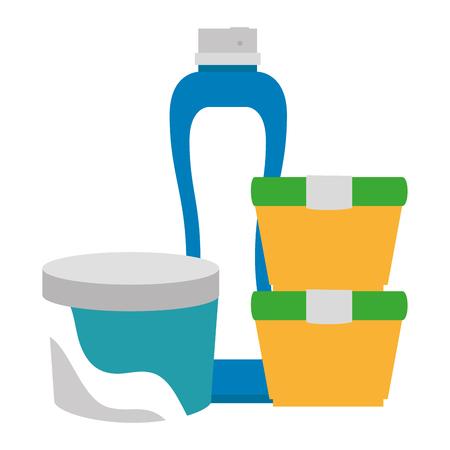 set bottles products icon vector illustration design Ilustração