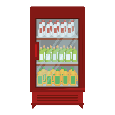 supermarket refrigerator with products vector illustration design Stock Vector - 115014078
