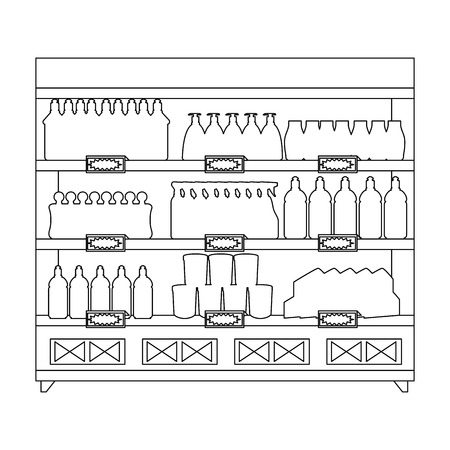 supermarket shelving with housekeeping products vector illustration design Stock Vector - 115014101