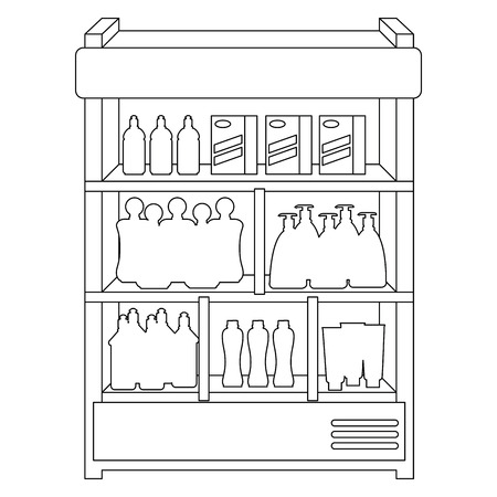supermarket refrigerator with products vector illustration design Stock Vector - 115014102