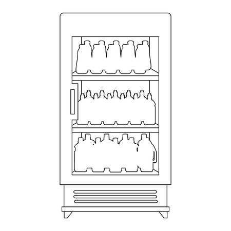 supermarket refrigerator with products vector illustration design Stock Vector - 115014104