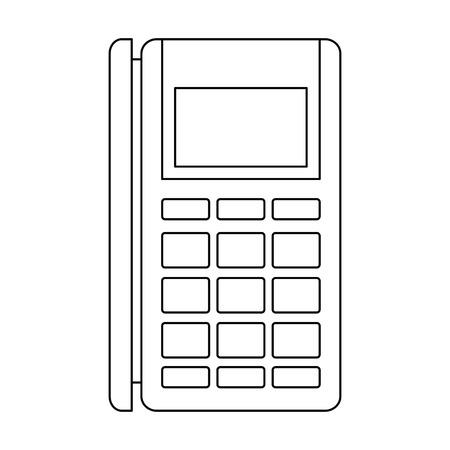 voucher machine electronic icon vector illustration design