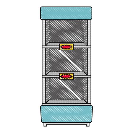supermarket refrigerator empty icon vector illustration design Stock Vector - 104523167