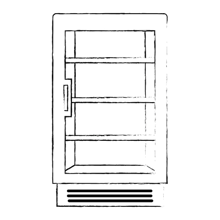 supermarket refrigerator empty icon vector illustration design
