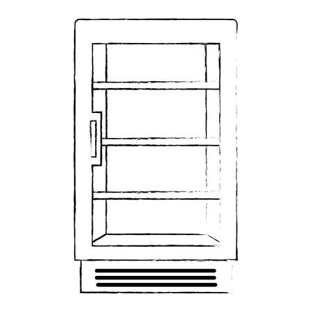 supermarket refrigerator empty icon vector illustration design Stock Vector - 115014153