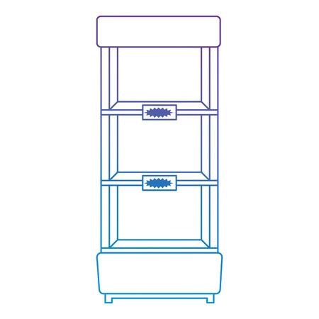 supermarket refrigerator empty icon vector illustration design Stock Vector - 115014178