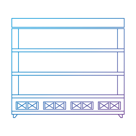 supermarket shelving empty icon vector illustration design