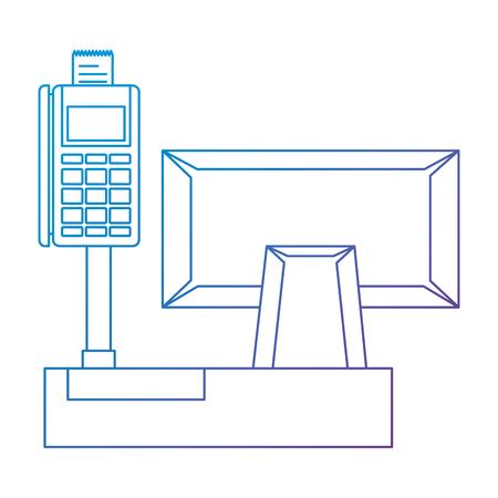register machine with voucher vector illustration design