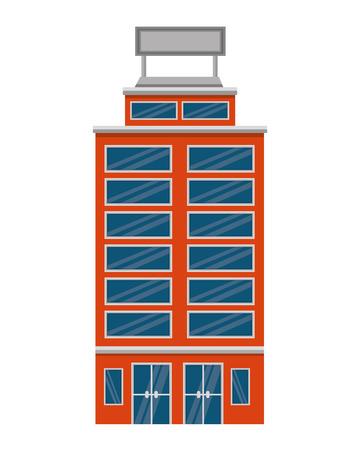 hotel building accomodation tourism travel vector illustration Stock Vector - 114994694