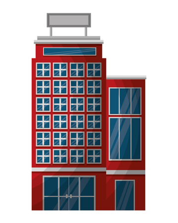 hotel building accomodation tourism travel vector illustration