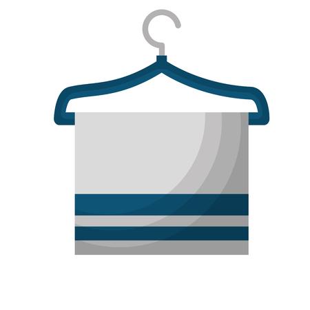 towel on hanger toilet image desing vector illustration Illustration
