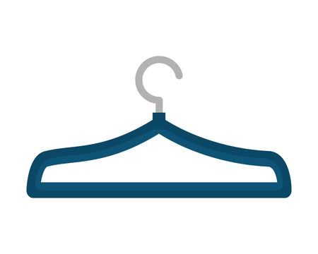 blue clothes hanger metal empty vector illustration Ilustracja