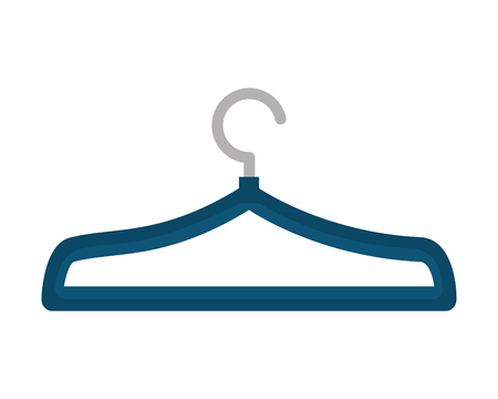 blue clothes hanger metal empty vector illustration Stock Photo