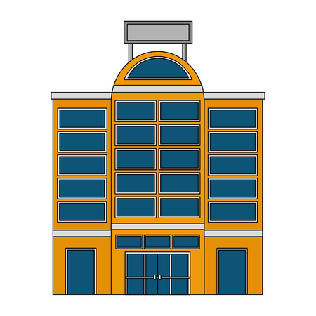 hotel building accomodation tourism travel vector illustration Reklamní fotografie - 104513975