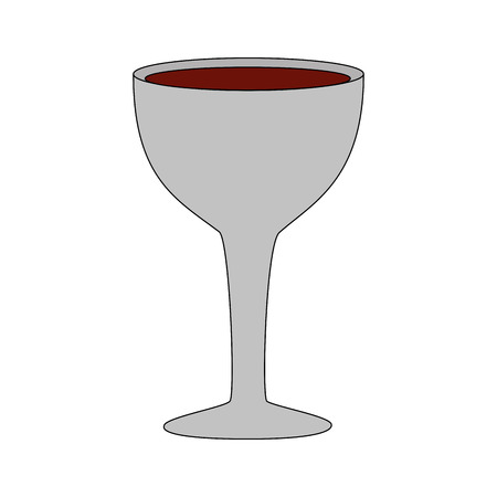 wine glass cup drink icon vector illustration Illustration