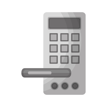 hotel door handle with electric lock vector illustration