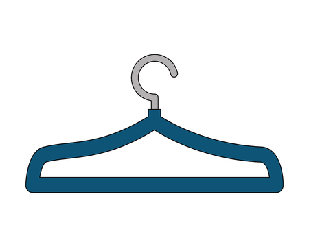 blue clothes hanger metal empty vector illustration 矢量图像