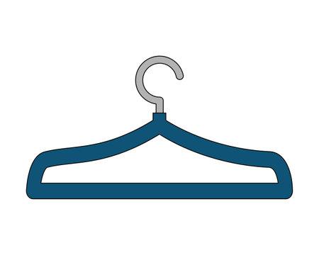 blue clothes hanger metal empty vector illustration Illustration