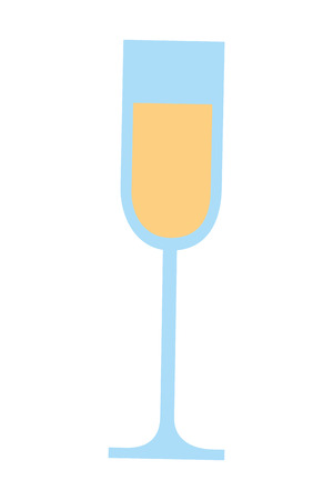 cup champagne isolated icon vector illustration design