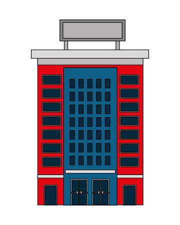 hotel building accomodation tourism travel vector illustration